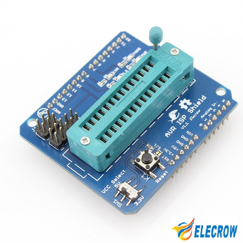 product High Quality! AVR ISP Shield for Arduino Used to <font><b>Download</b></font> Bootloader Burning for Arduino AVR ISP Shield V1.1 Free Shipping