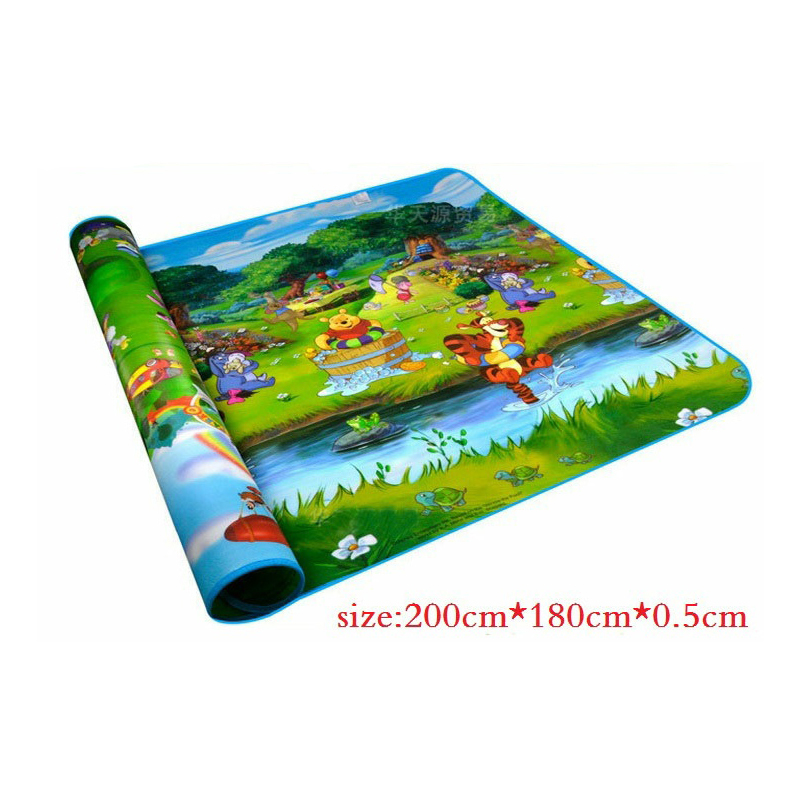 Children's play mat Baby Play Mat 2*1.8 Meter Fruit Letters Happy Farm Child Beach Picnic Carpet Crawling - The only design studio store