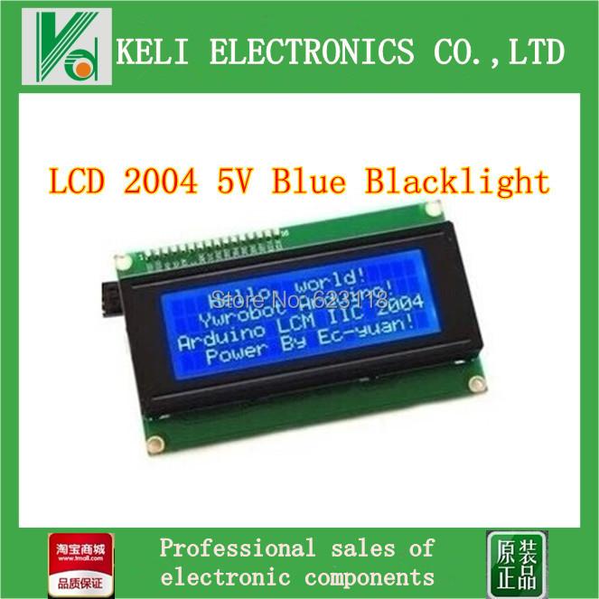 Free shipping 1pcs lot LCD Board 2004 20 4 LCD 20X4 5V Blue screen blacklight LCD2004