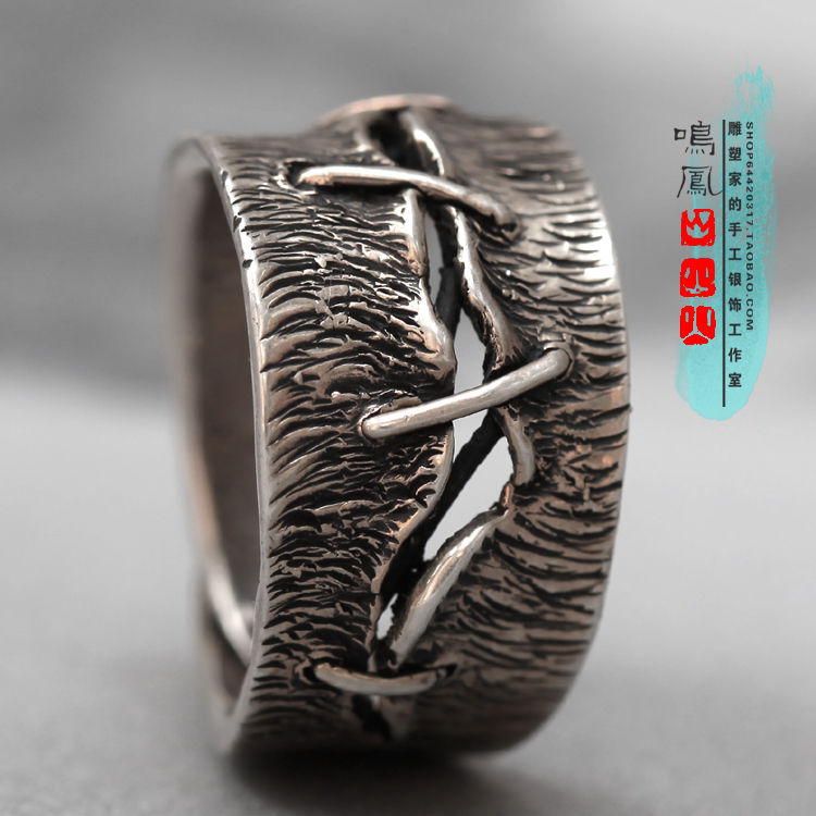 Scar Ring Now Creative Art Item Love Scars to be remembered Forever Pure Silver Pure Handmade Craft Adjustable Opening(China (Mainland))