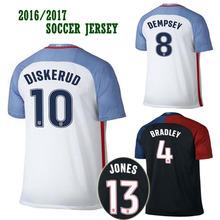 2016 united states soccer jersey 1617 DISKERUD MORGAN LLOYD ALTIDORE BRADLEY WAMBACH black football shirts best quality(China (Mainland))