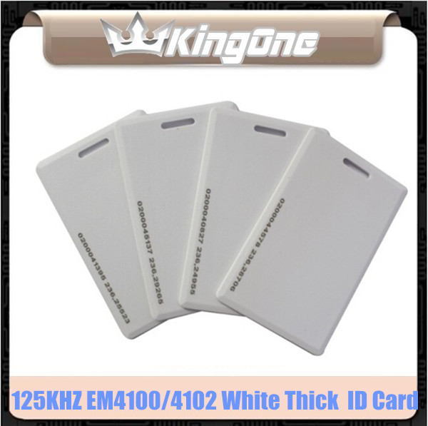 50pcs/lot ! 125KHz Proximity EM 4100/4102 RFID Door Control Entry Access Thick ID Card For Access Control System(China (Mainland))