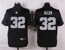 Oakland Raiders #32 Marcus Allen Elite White and Black Team Color high-quality free shipping(China (Mainland))
