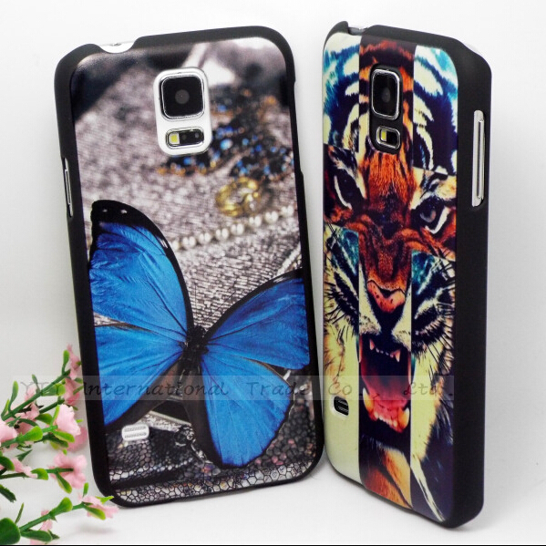 S5 Prints Blue butterfly Cases For Samsung Galaxy S5 i9600 Case For Phone GalaxyS5 Bags Cover Star Matte Shell Top Fashion Best(China (Mainland))