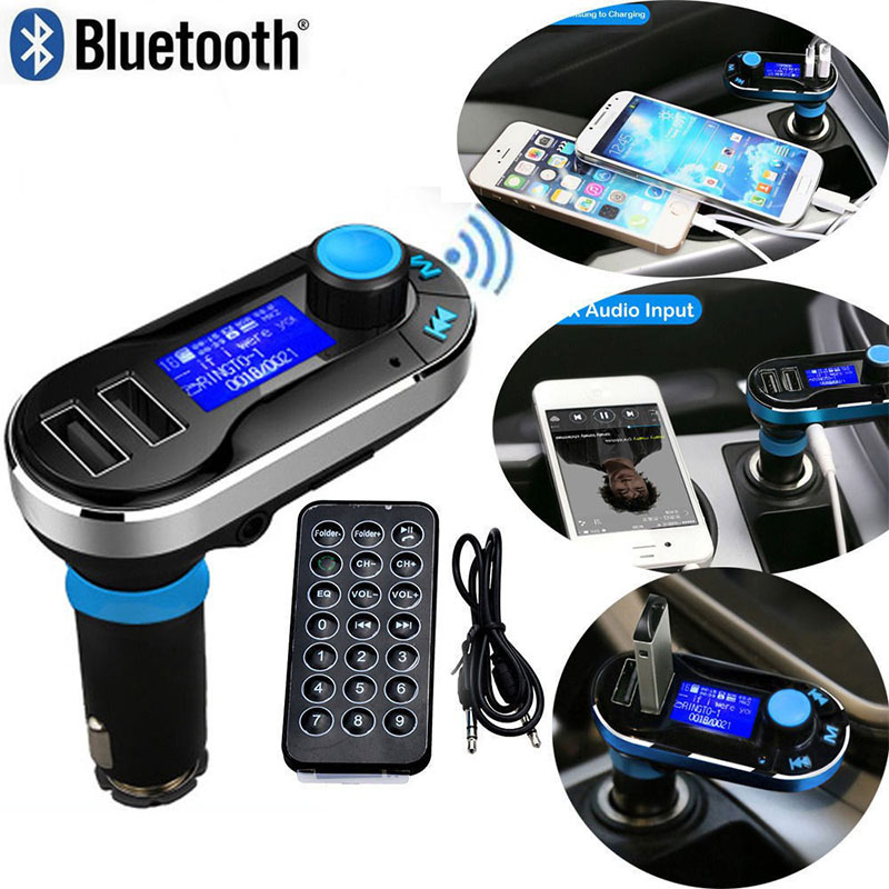 Newest Bluetooth Car Kit MP3 Player FM Transmitter SD LCD Dual USB Charger For iPhone 6 5S 5C(China (Mainland))