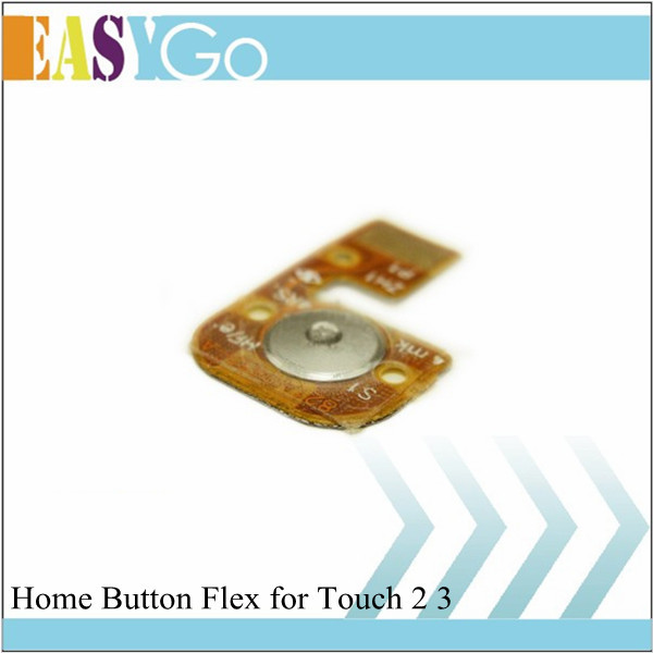 Free Shipping High Quality Home Button Flex Cable Replacement Repair Parts for iPod Touch 2 Touch 3(China (Mainland))