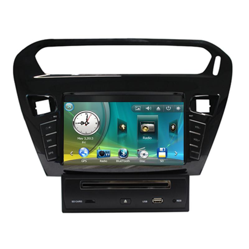 "7"" Car Radio DVD GPS Navigation Central Multimedia for Peugeot 301 2013 SD USB RDS Analog TV Phonebook Bluetooth Handsfree(China (Mainland))"