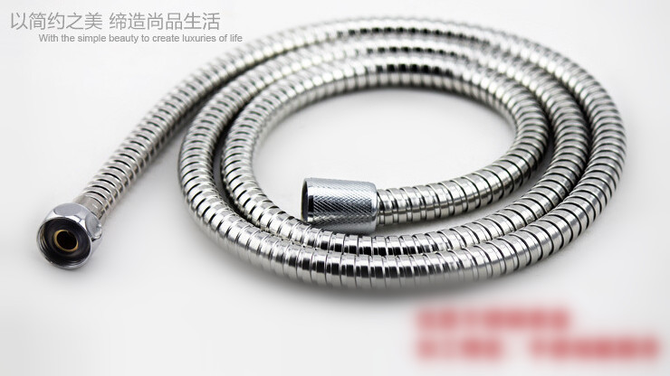 Гаджет  Stainless Steel Hand Shower Hose Sprinkler Pipe Replacement Extended Length 1.5 Meter Chrome Plated None Строительство и Недвижимость
