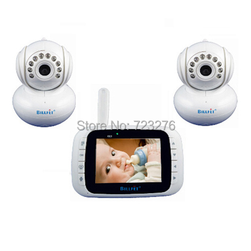 2 camera baby monitor 3.5inch LCD Video Digital Baby monitors sleeping Smart 2.4ghzWireless lullaby electronic nanny Radio nurse(China (Mainland))