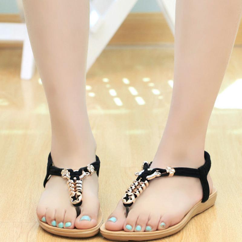 2016 Summer Hot Women Sandals Fashion Sweet Ankle-Strap Flat Women Shoes<br><br>Aliexpress