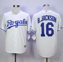 Hot Royals #16 Bo Jackson jersey,Mens Bo Jackson Jersey Throwback Baseball,Jackson stitched baseball jersey(China (Mainland))