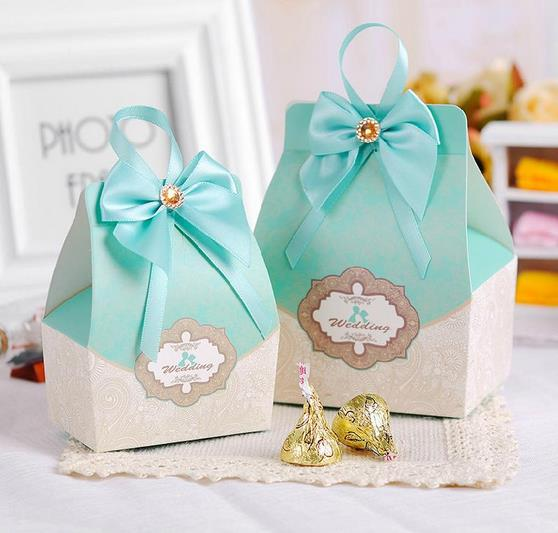 50pcs tiffany blue Candy Box Wedding Favors and gifts Wedding ...