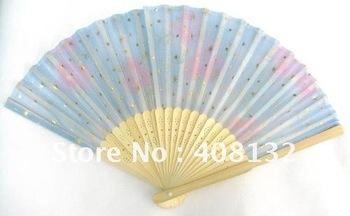 Wholesaler LOT 40X Chinese Silk folding Bamboo Hand Fan Fans Art Handmade Flower