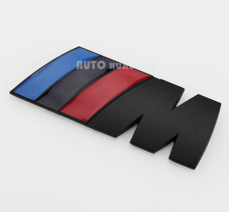 Chrome Metal Power Car Auto sticker Badge Black M Logo Emblem Fit for M3 X5 E46(China (Mainland))