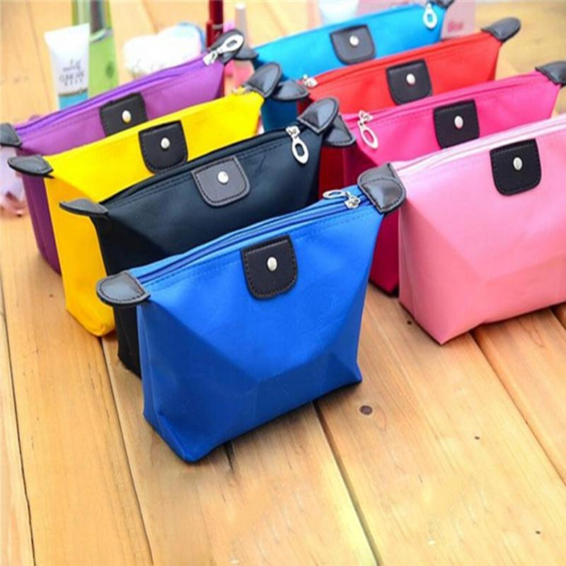 Waterproof Fashion Cosmetic Bag Korean dumpling shape cute jewelry travel wash Storage bag handbag free shipping S309(China (Mainland))