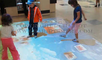3D interactive floor 3D projector system for advertising, Convention, Centers, Retail, spaces, Airports, Exhibition spaces