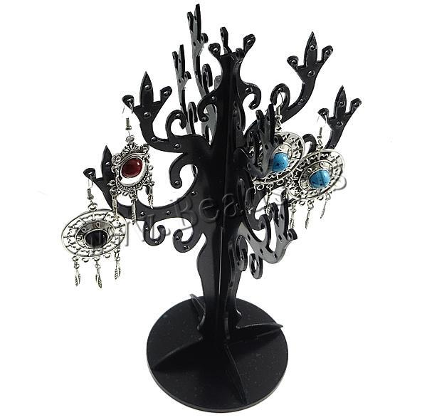 New Fashion Black Tree-shape Plastic Jewelry Tree Multifunctional Earrings Rings Holder Accessories Storage Rack<br><br>Aliexpress