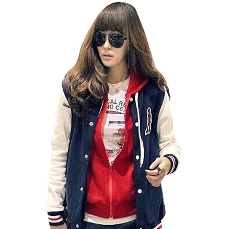 NEW FASHION BASEBALL UNIFORM LETTERS A LOOSE COLOR BLOCK STITCHING STAND-UP COLLAR STRIPED LONG-SLEEVED JACKET GWF-6401Freeshipp(China (Mainland))