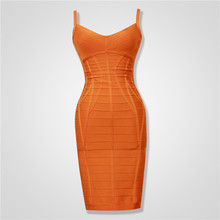 Free Shipping Summer Bandage Dress 2015 New Arrival Women Strappy White Bodycon Bandage Dresses Yellow Orange 3 Colors Available