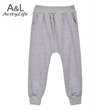 Retail 2015 New spring autumn cotton kids Harem pants Boys Girls Casual Pants 2 Colors Kids Sports trousers Harem pants Hot 57(China (Mainland))
