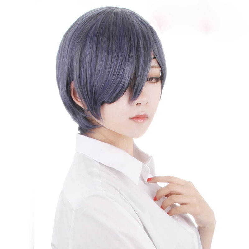 Anime Black Butler Ciel Phantomhive cosplay wig 2015 new fashion women men s Short gray and