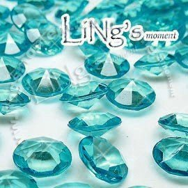 LiNg's 2000 pieces 6.5mm(1 Carat) Aqua Blue Diamond Confetti Table Scatter Wedding Favor Filler Party Decoration - FREE SHIPPING