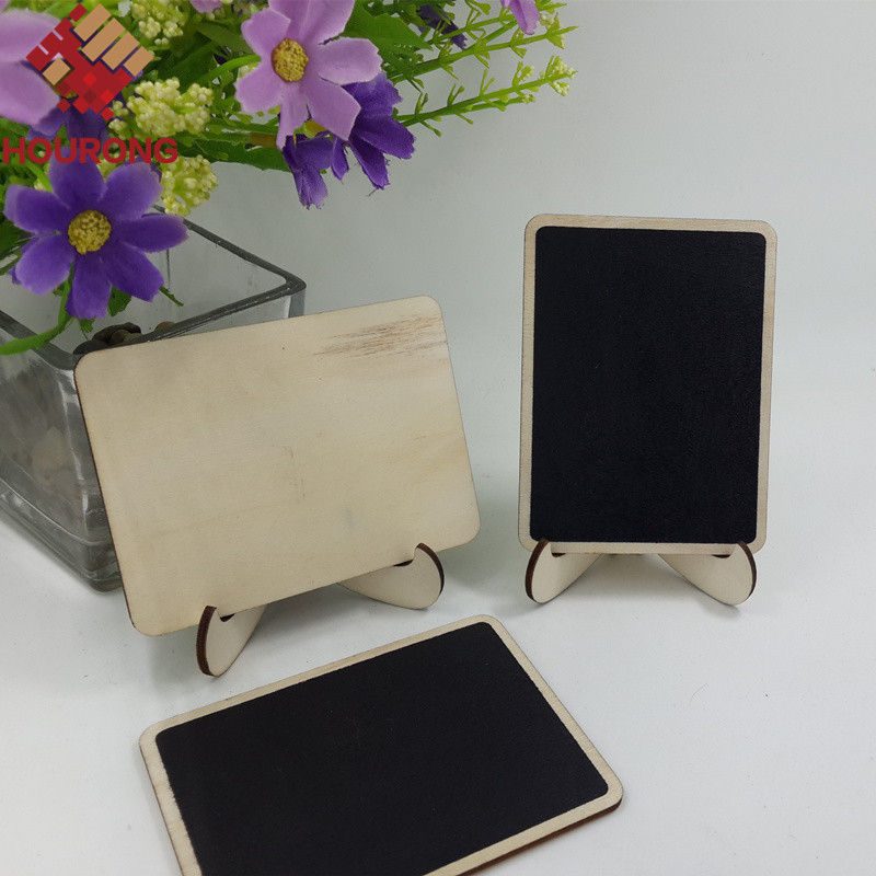 10Pcs/Pack DIY Mini Blackboard Square Wooden Blackboard Wedding Decoration Price Display Stand For Christmas Party Wedding Decor(China (Mainland))
