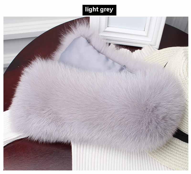 fox fur collar light grey 2