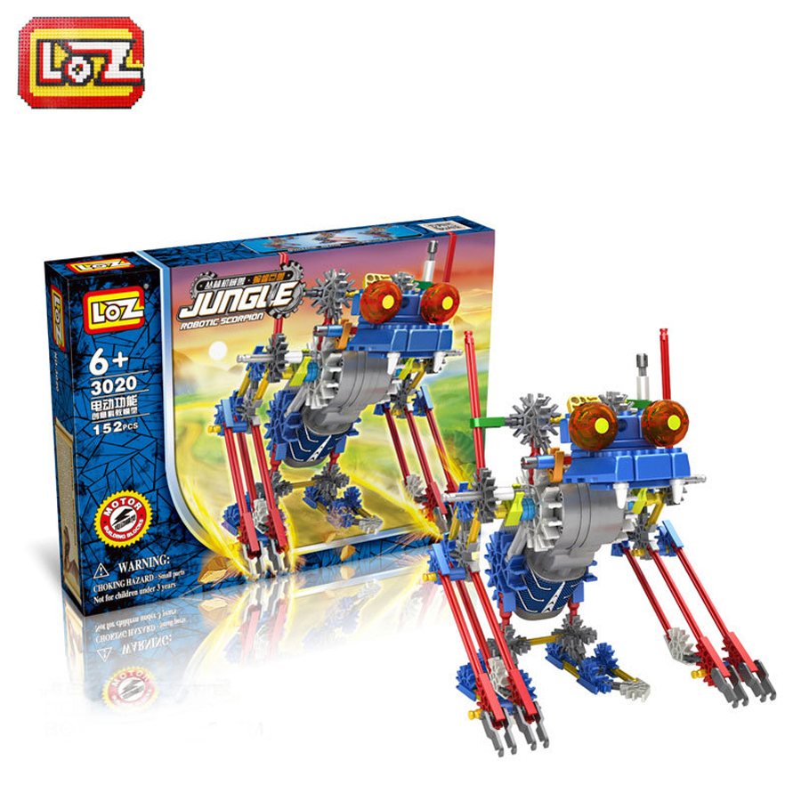 LOZ Diamond Building Blocks Electric building blocks robot dinosaurs series Plastic blocks Action Figure Children DIY Toy 515(China (Mainland))