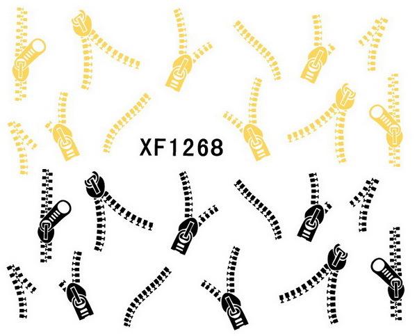 Fashion japan style1 Sheets 3D Design cute DIY watermark zipper Tip Nail Art Nail Sticker Nails Decal Manicure nail tools(China (Mainland))