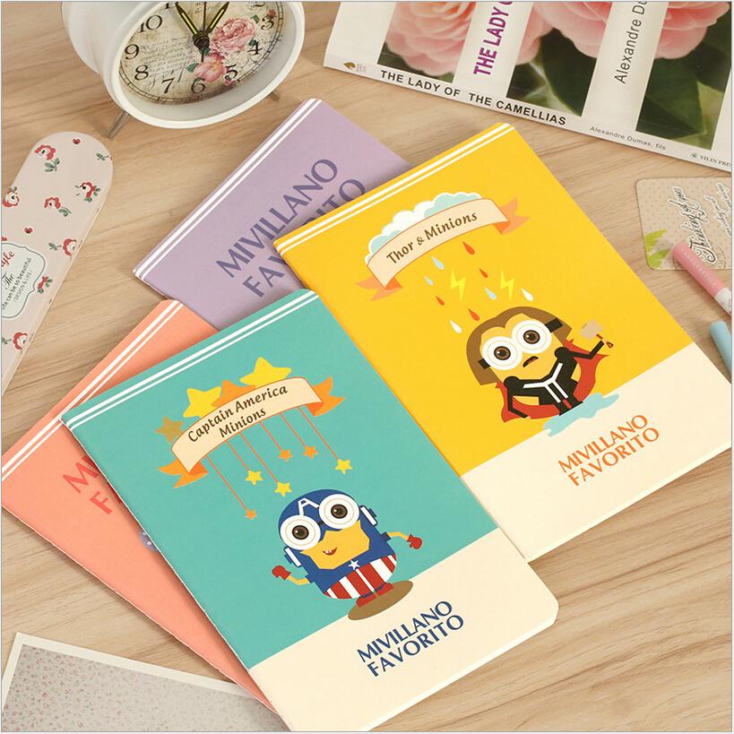 12pcs/lot  New Cartoon Yellow Doll design paper Notebook kawaii journal Diary Notepad office school  Memo pads 210*142MM<br><br>Aliexpress
