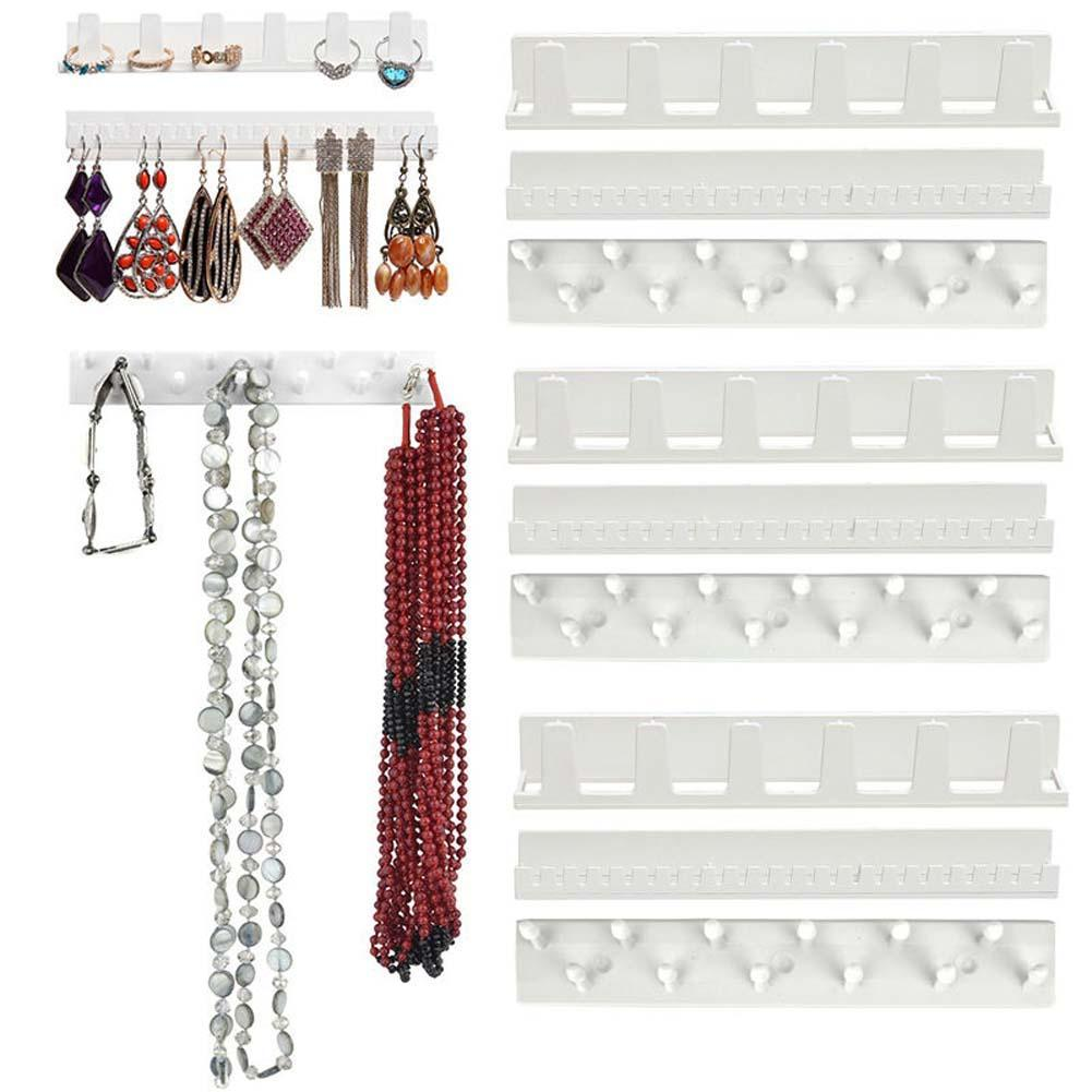 9pc Jewelry Earring Organizer Hanging Holder Necklace Display Stand Rack Hook closet shelves diy necklace organizer A190(China (Mainland))