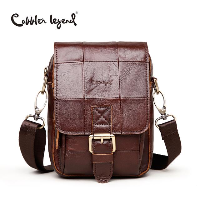 Cobbler Legend Fashion Brand 2016 New Men's Vintage Genuine Leather Messenger Bag Men Male Cowhide Shoulder Crossbody Mini Bags