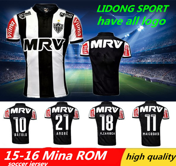New Mineiro jersey 2015 MADE thailand LUAN LUCAS PRATTO.camisetas de futboll mineiro home football jersey(China (Mainland))