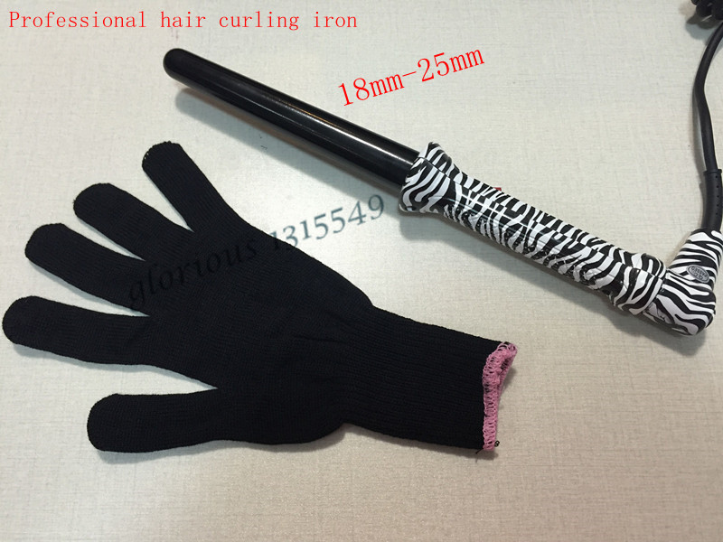 Zebra Hair Curling Wand 18-25mm Curler Ceramic Curling Iron Magic Hair Styler With Resistant Glove For Free(China (Mainland))
