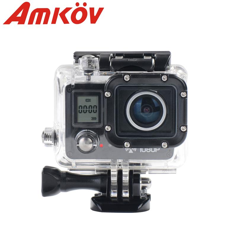 Original AMKOV AMK 5000S 20MP 1080P Wifi Action Camera 170 degree Wide Angle digital Camera Waterproof 30M Sport Camera(China (Mainland))