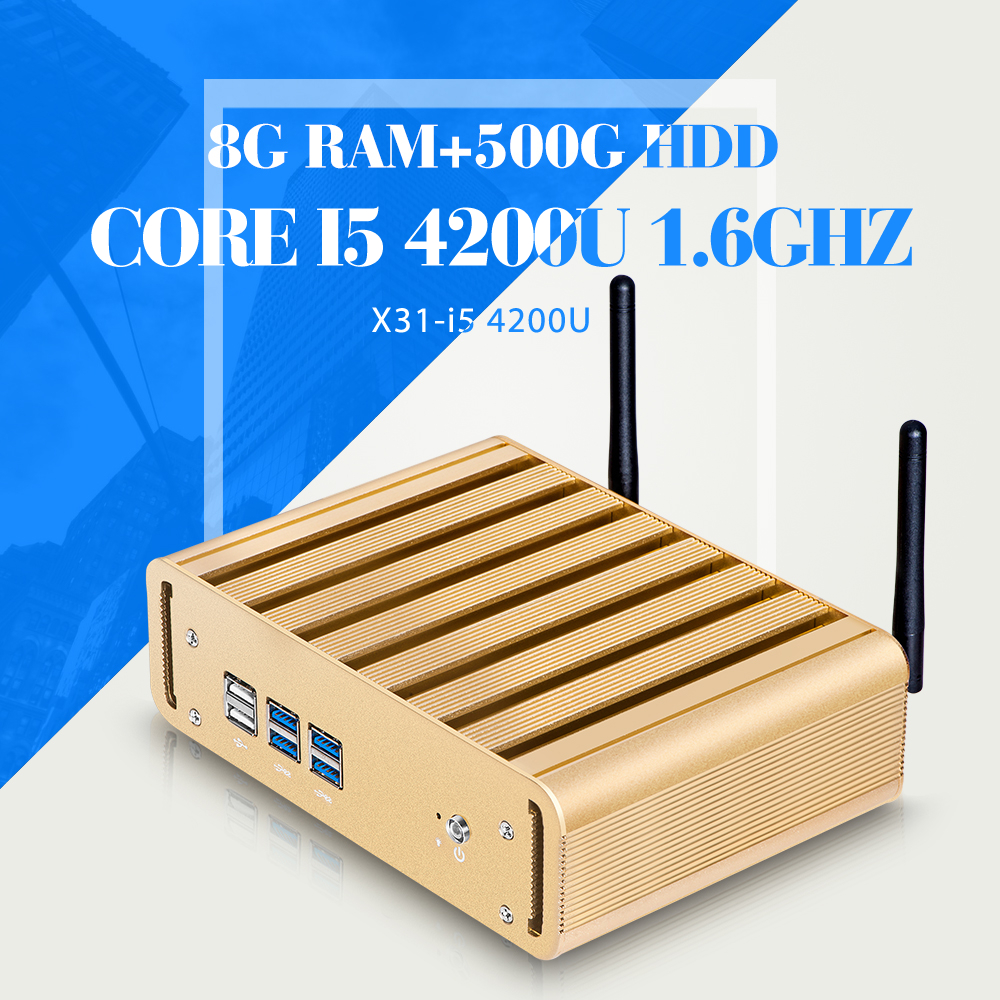 Mini Computer I5 4200U 8G RAM 500G HDD WIFI 6*USB Ultra Thin Client Terminal Virtual Pc Station(China (Mainland))