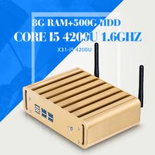 Mini Computer I5 4200U 8G RAM 500G HDD WIFI  6*USB Ultra Thin Client Terminal Virtual Pc Station(China (Mainland))