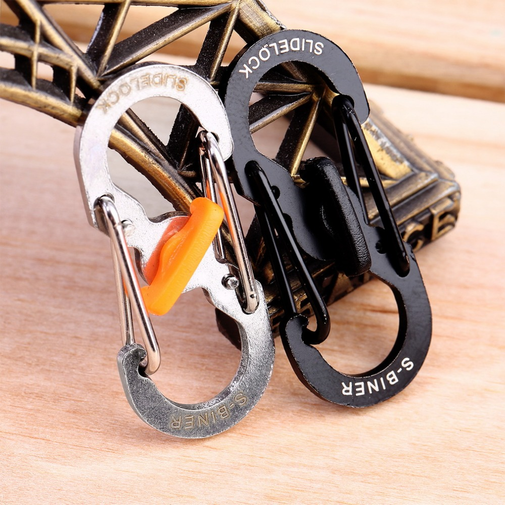 8 Shape Plastic Steel Carabiner Key Chain Hook Clip Outdoor Camping Hiking Snap<br><br>Aliexpress