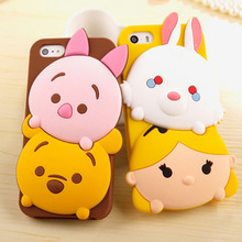 Hot sale! Lovely 3D Cartoon Tsum Sulley Daisy Mike Soft Silicone Mobile Phone Back Cover Cases For iPhone 6 6s 6Plus 6sPlus