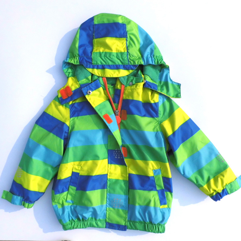 Children Outerwear Warm Coat Sporty Kids Clothes Double-deck Waterproof Windproof Baby Boys Girls Jackets For 2-10T(China (Mainland))