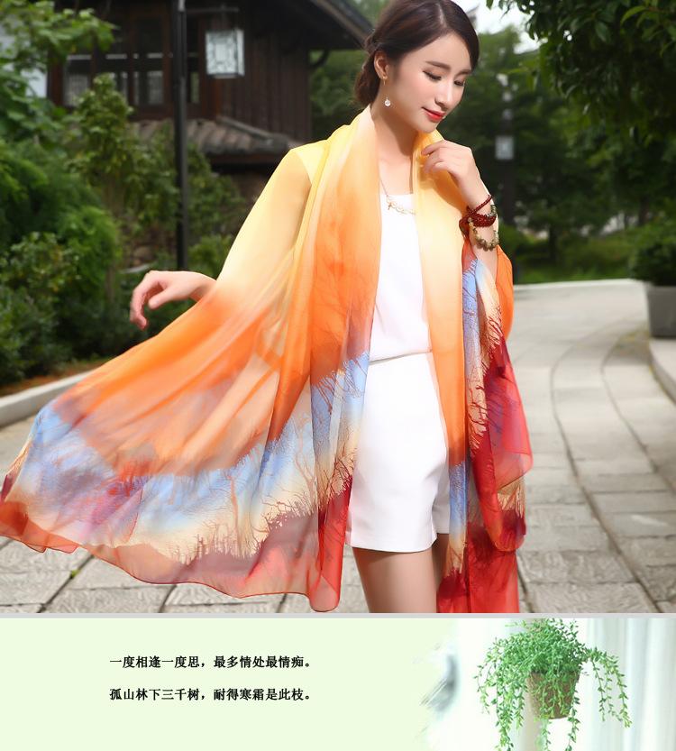 New summer travel shawl Warm winter women chiffon scarves Color mosaic fashion women's scarves