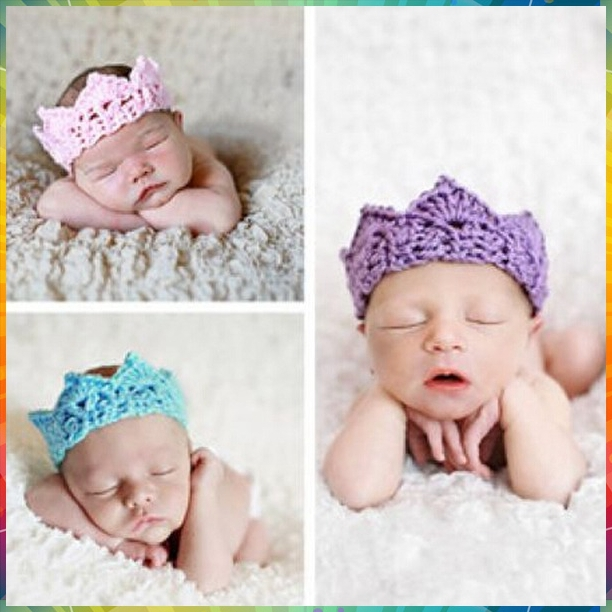knit headband Hot Infant Baby Toddler Crochet Crown Headband Soft Headwear Crochet Hair Accessories #8P0018 20pcs/lot(12colors)(China (Mainland))