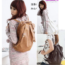 50pcs/lot Korean Style Girls' PU Leather Backpack/Schoolbag