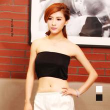 Nouveau modèle de soie tube tricoté tops solide couleur 100% pure soie tube tops intime confortable tube tops-b10