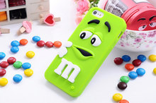 For iphone 4 4s cases M&M's chocolate candy rubber silicone cartoon cell phone case covers to iphone4s(China (Mainland))