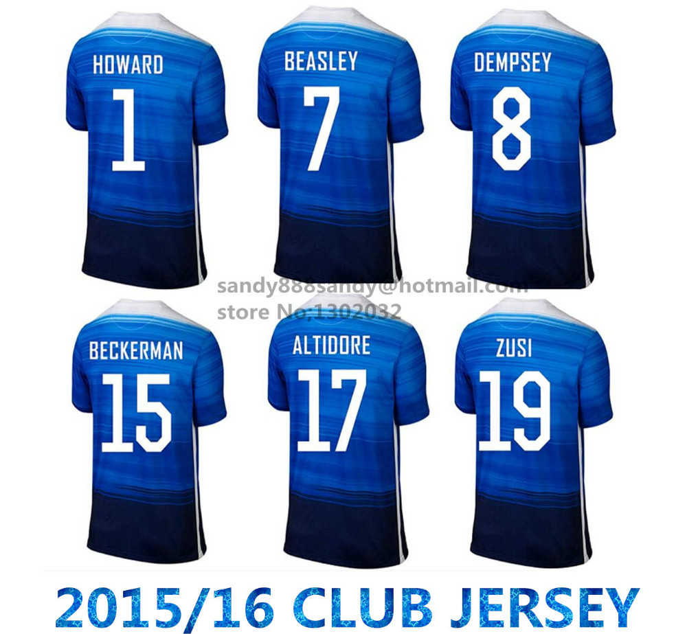 Free Shipping 2015-2016 Thai Quality america team Jersey BRADLEY DEMPSEY DISKERUD BECKERMAN ALTIDORE mexico Soccer Jersey(China (Mainland))