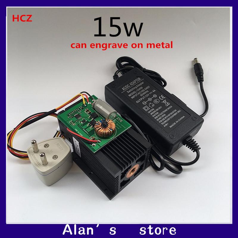 DIY 15w high power laser module, laser cutter, 450nm ,DIY Co2 laser engraver(China (Mainland))