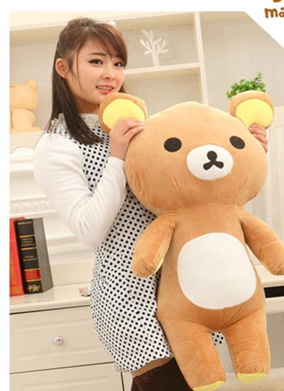 hot sale stuffed toys kawaii anime plush dolls 65 cm/piece giant teddy bear rilakkuma plush toys pillow birthday gift(China (Mainland))