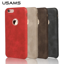 USAMS Leather Case For iphone 6 Case Cover Luxury 4.7 Inch Back Cover for iphone6 iPhone 6s Shell Phone Bags & Cases(China (Mainland))